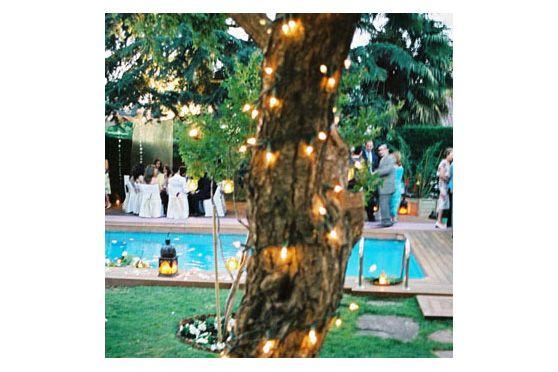 Consejo Airedefiesta.com: enrolla tiras de leds en los troncos de los árboles para crear una atmósfera muy especial. #fiesta, #boda, #iluminacion http://www.airedefiesta.com/list.aspx?c=202=44=2