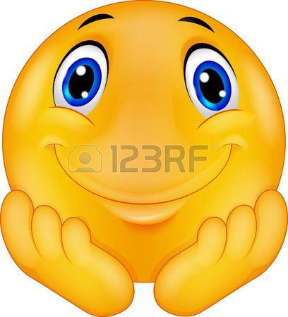 Thinking emoticon smiley cartoon Stock Vector