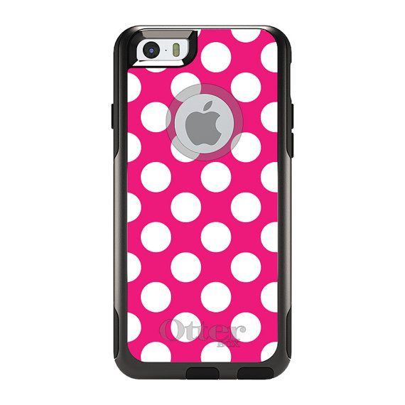 apple iphone 6  hot pink and pink polka dots on pinterest