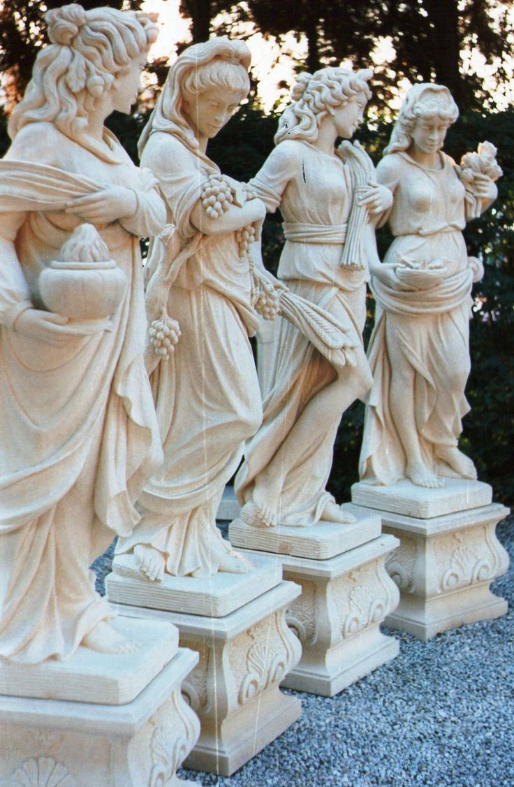 Four seasons statues made in italian stone design by for Decor italy srl