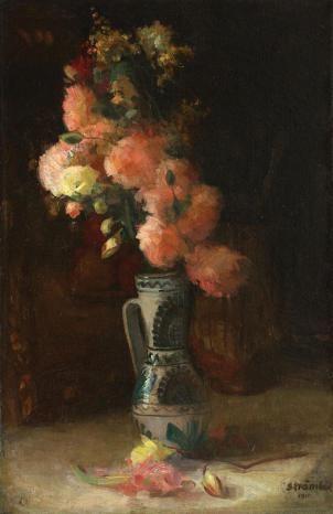 Ipolit Strâmbu  - Canceu cu trandafiri şi crizanteme