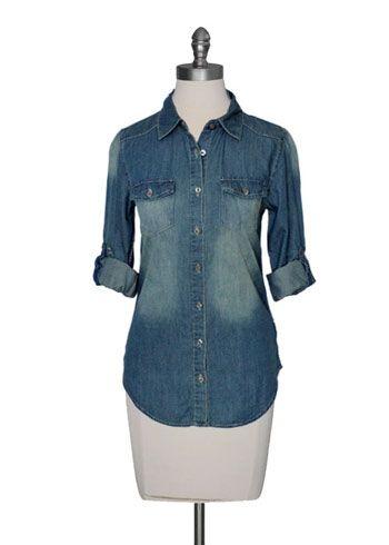 Vintage Wash Denim Shirt $32