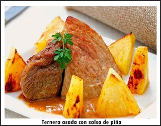 La recetería: Ternera asada con salsa de piña