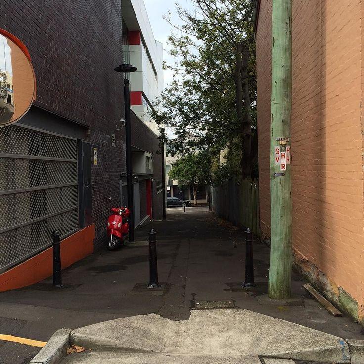 Light and shadow play on lanes in Woolloomooloo Sydney 5 - #lightandshadowplayonlanes #light #shadow #lane #Sydney #Woolloomooloo #bike #scooter #hr #sv