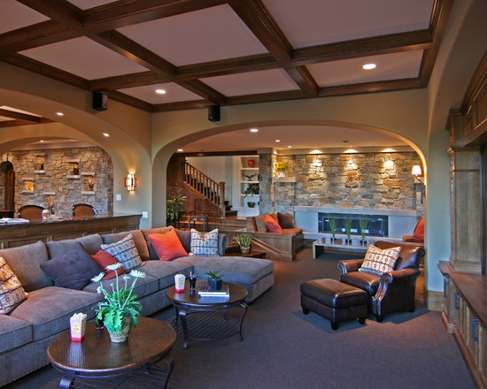 57 best images about rec rooms on pinterest basement for Rec room design ideas
