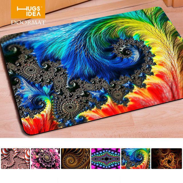 Hugsidea 40*60 centimetri novità home decor dedust tappeti soggiorno benvenuto colorful 3d hd vivid stampa piano tappeto di pelliccia tappeti e tapis