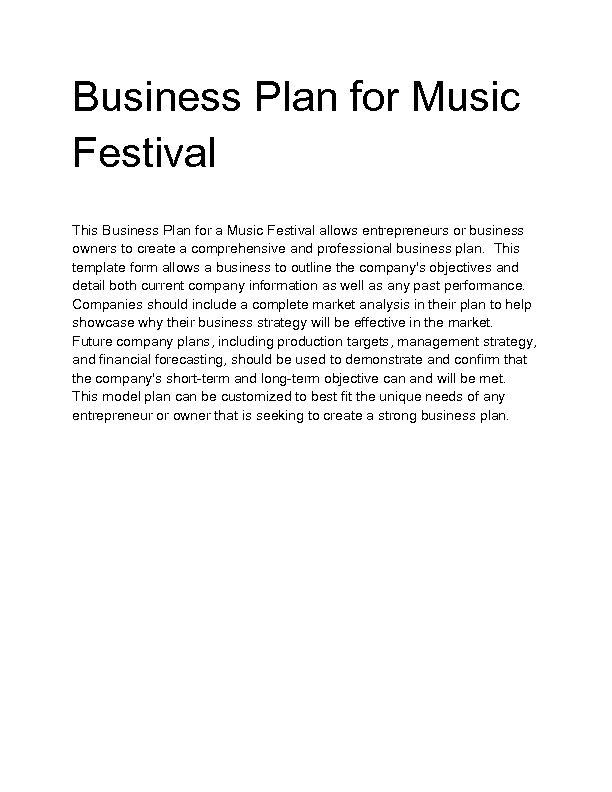 Indie Record Label Business Plan Sample Inside Template For Writing A Music Business Plan Business Plan Template Free Business Planning Sample Business Plan