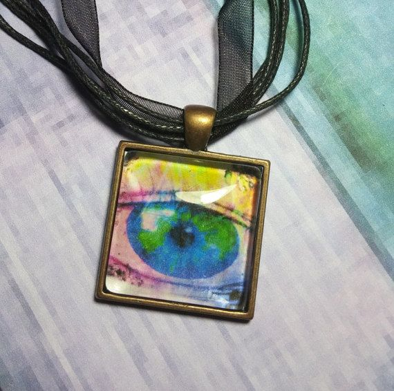 116 best evil eye pendants images on pinterest dragon eye evil square glass dome pendant eye abstract painting pendant necklace abstract green and blue hippie boho silk necklace glass eye pendant mozeypictures Image collections