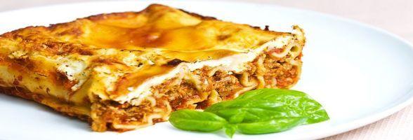 Italské těstoviny lasagne