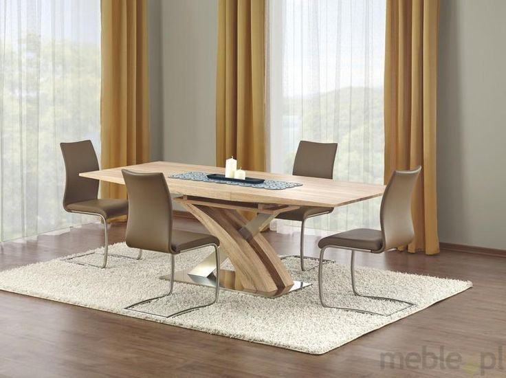 Stół SANDOR wykonany z laminowanej płyty MDF, Halmar - Meble