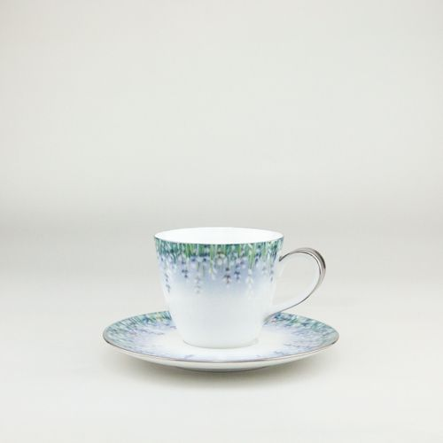 Lalala Platine inspiration for this design comes from the #Lavender fields of Southern France,  Espressocup  cup 100ml handthrown from the purest white Jingdezhen Porcelain then handpainted by our team of artists then gilded in the finest platinum   #Teacup #coffeecup #Espressocup  by Spherebol
