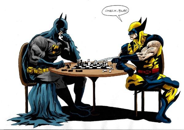 Batman vs Wolverine geek-stuff