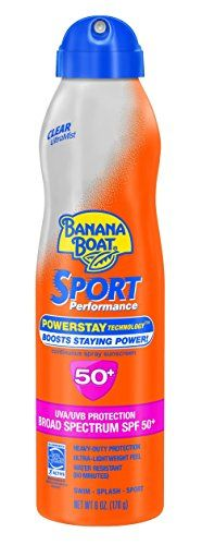 Banana Boat Sunscreen Ultra Mist Sport Performance Broad Spectrum Sun Care Sunscreen Spray - SPF 50 >>> Want additional info? Click on the image.