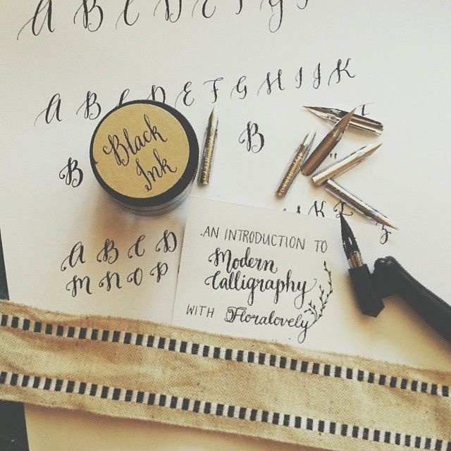An Introduction to Modern Calligraphy workshop with Floralovely Calligraphy