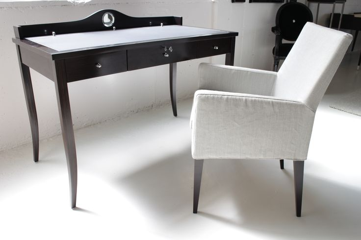 Paris Desk made in Ecuador by La Galeria, Volo Armchair made in Italy by Marac. Available at Sarsfield Brooke