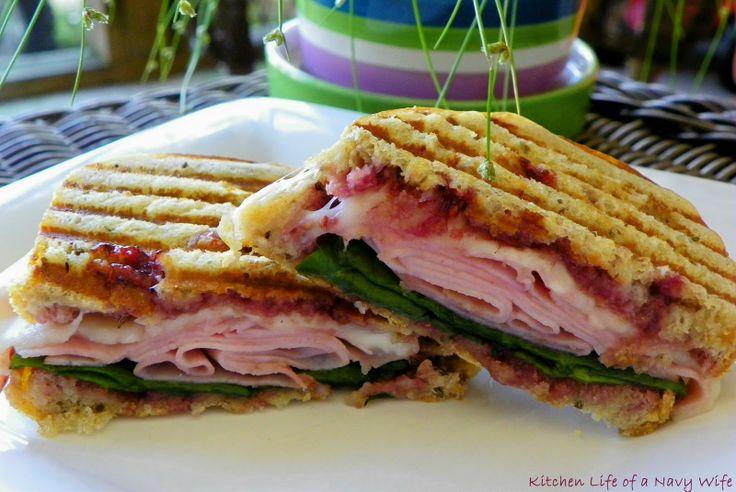 Raspberry Ham Panini