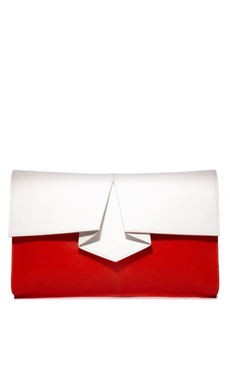 Origami Hair Calf Clutch by Vionnet Now Available on Moda Operandi