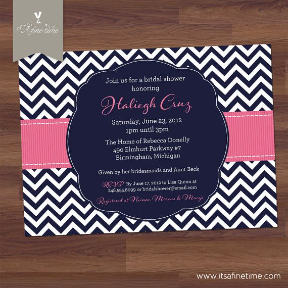 Relatively 106 best Navy and Pink Bridal or Baby Shower images on Pinterest  VA37