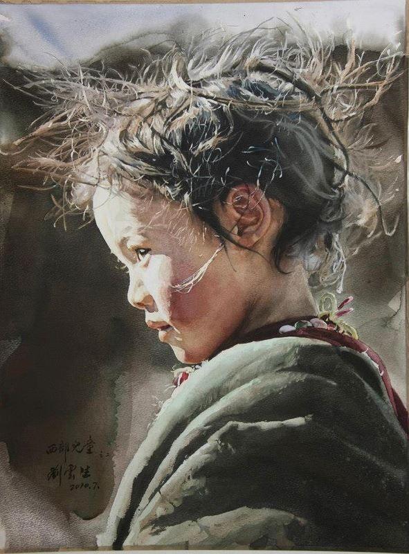 Liu Yun Sheng ~ WestChild, 2012 (watercolor)