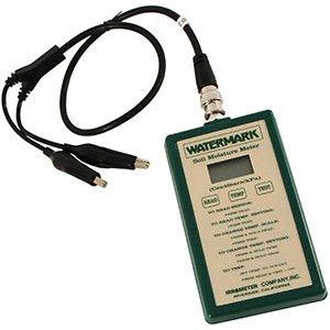 Medidor de humedad electrónico que permite controlar la frecuencia y las dosis de los riegos. Instrumento para medir la humedad fácilmente.