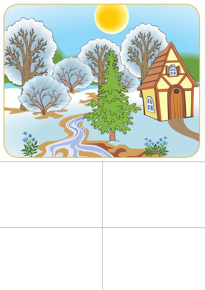 seizoenenspel lente 1 voor kleuters, free printable
