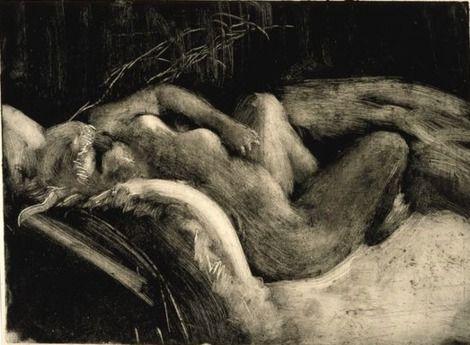 Edgar Degas, Le Sommeil (Sleep) Monotype - 1883-85 on ArtStack #edgar-degas #art