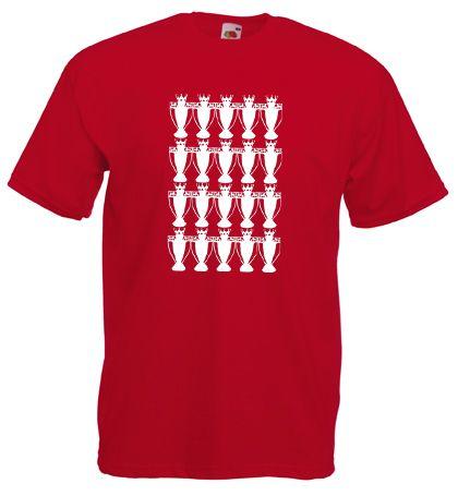 £9.99 - #Manchester #MANUTD 20 Premier #Titles Mens #T-Shirt M/L/XL/2XL/3XL/4XL/5XL MUFC - Worldwide Delivery