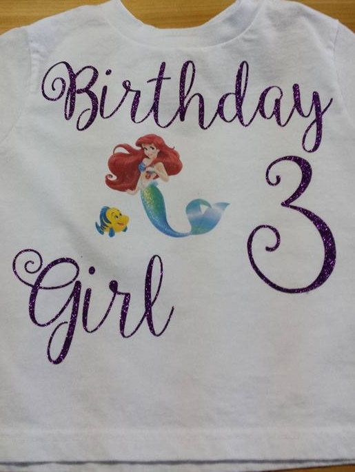 Check out this item in my Etsy shop https://www.etsy.com/ca/listing/288689653/little-mermaid-birthday-shirt