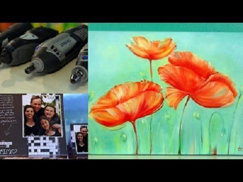 MONITOR   Silvia Mongelos enseña a realizar flores - pinceladas con Óleo Monitor   Manos a la Obra - YouTube