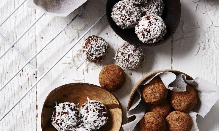 Tartufi di cioccolato al cocco e pistacchio
