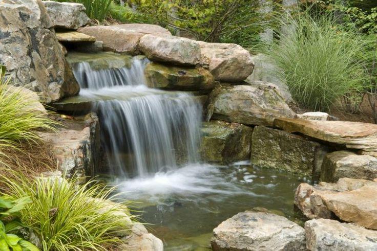 cascade bassin de jardin grands rochers
