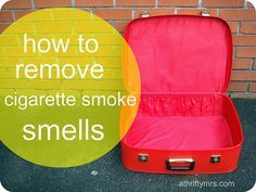 how to remove cigarette smoke smells by athriftymrs.com, via Flickr                                                                                                                                                                                 More