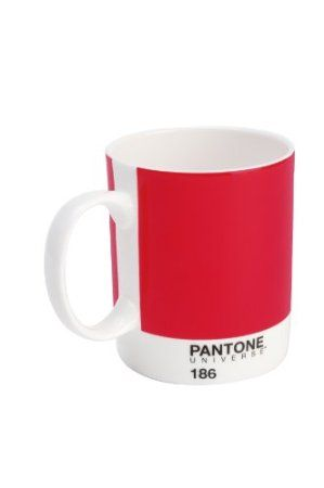 Pantone 186 Bone China Mug, Ketchup Red: Amazon.co.uk: Kitchen & Home