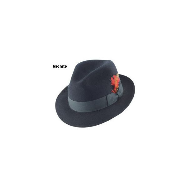 Stetson Saxon Fedora Hat ❤ liked on Polyvore featuring accessories, hats, stetson fedora, stetson hats and fedora hats
