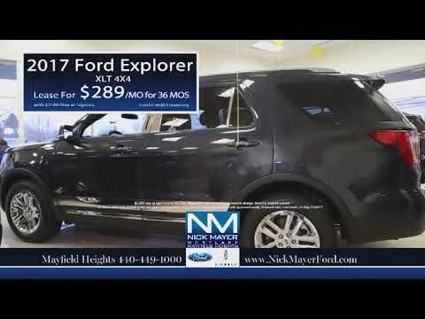 Buy or Lease a New Ford Explorer Beachwood OH at Nick Mayer Ford
