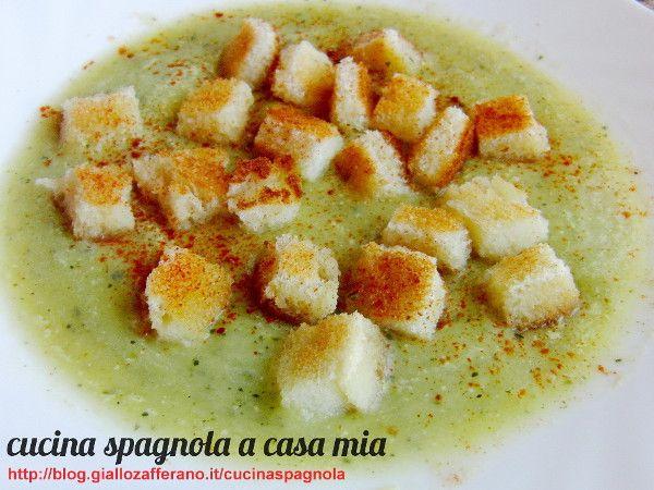 VELLUTATA DI PORRI E ZUCCHINE | Cucina Spagnola: http://blog.giallozafferano.it/cucinaspagnola/vellutata-porri-e-zucchine/