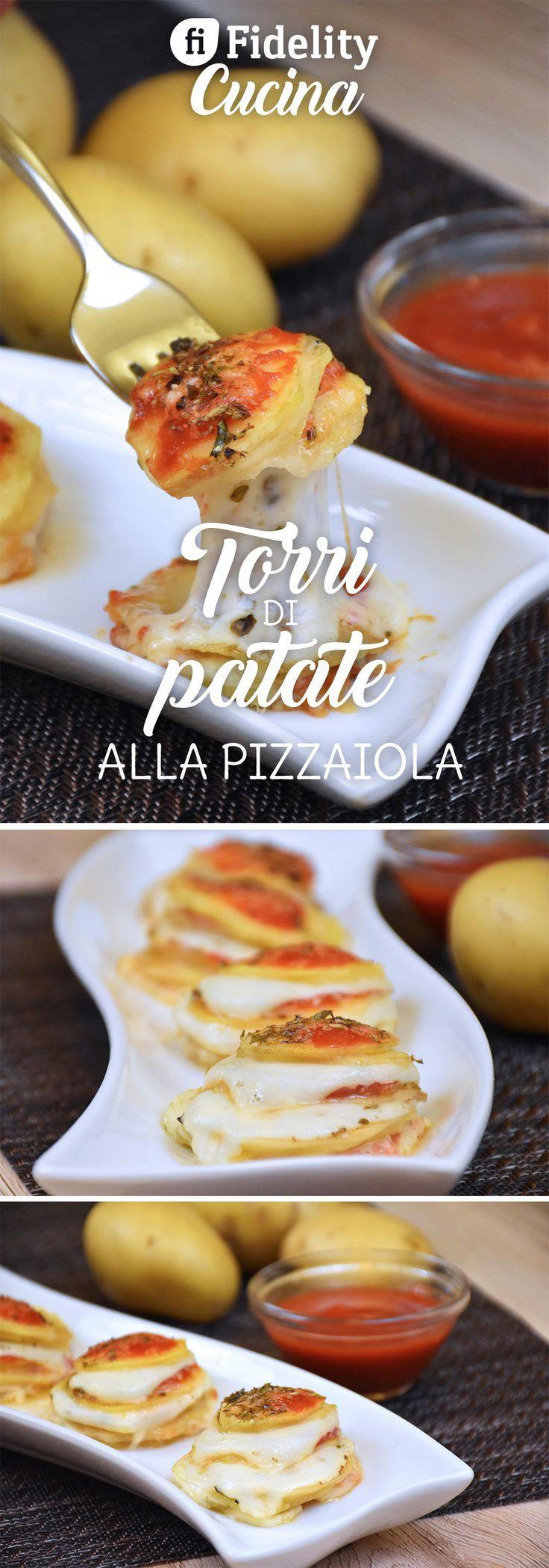 Le torri di patate alla pizzaiola sono un contorno molto sfizioso e particolare, che si prepara in poco tempo ma che piacerà davvero a tutti. Ecco la videoricetta
