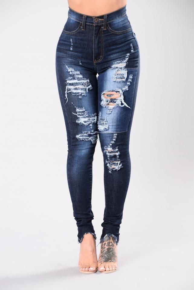 Little Details Jeans - Medium Blue