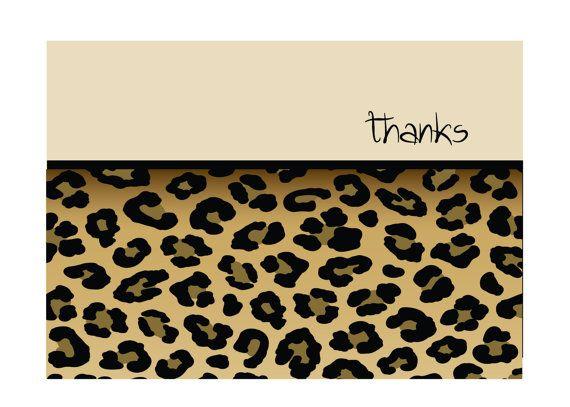 27 best leopard business cards images on pinterest business cards leopard print note cards reheart Images