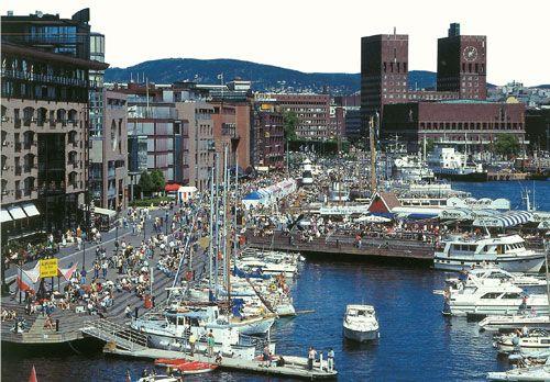 Aker Brygge in Oslo, Norway.