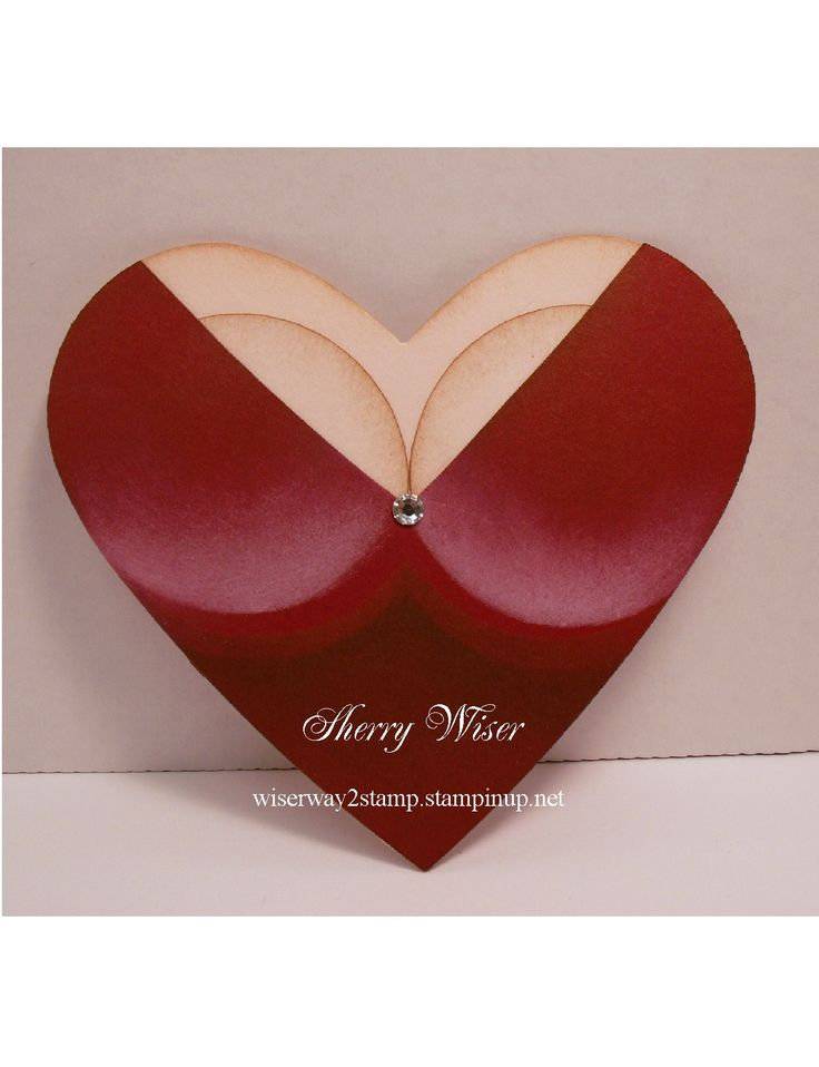 """What I fondly like to refer to as """"The Boob"""" card!  This is what my husbands' getting for Valentines Day this year.  Love the way it turned out!"""
