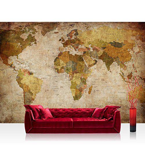 papel pintado fotogrfico premium plus fotogrfico pintado u cuadro de pared u vintage atlas u mapa