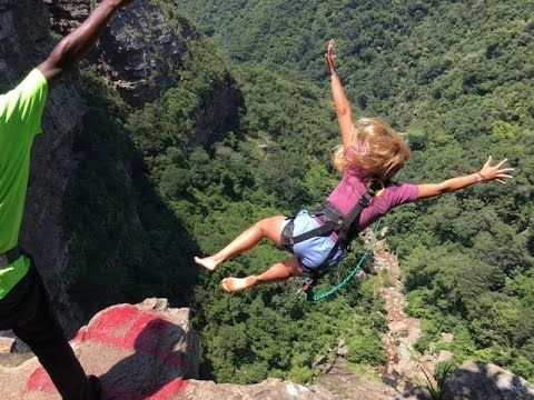 The #great team from #FreewalkerAdventureTravel #SA visited @wild5adventures!  Video Here! #CliffJump #BraggingRights
