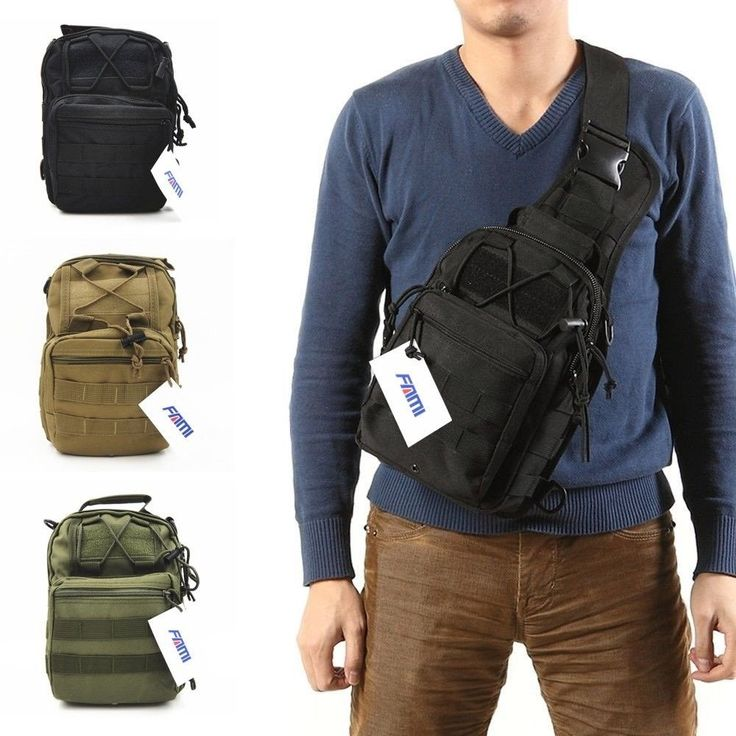 Black Tactical Shoulder Backpack, Military & Sport Bag Pack for Camping, Hiking, #FAMI