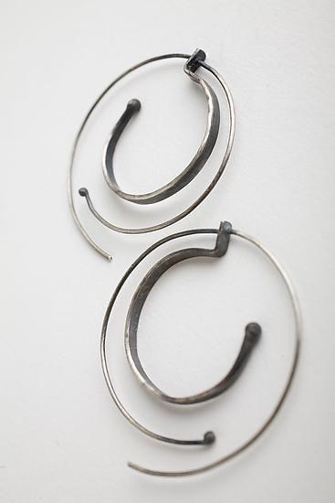 Hammered Spiral Hoops: Monique Rancourt