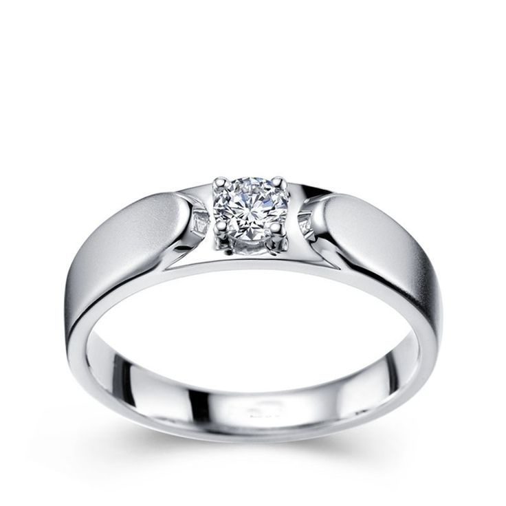 Men S Diamond Wedding Ring Band In White Gold
