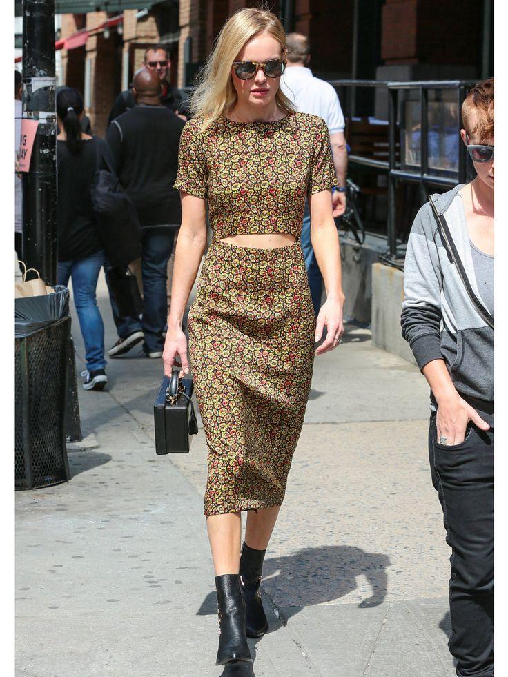 ケイト・ボスワースの春スタイルはシューズ&バッグが決め手!