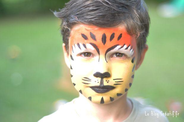 maquillage tigre facile