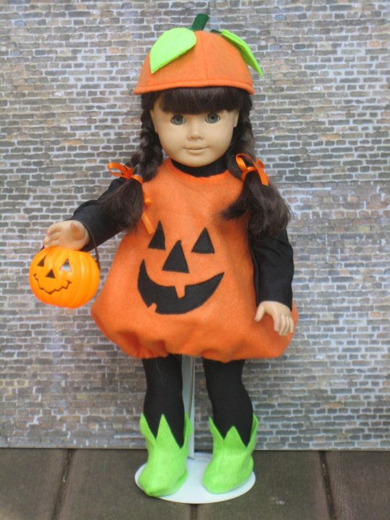 7 pc Pumpking outfit for your American Girl by CarmelinaCreations, $38.00