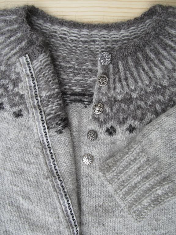 Foggy Maren Cardigan - created using the techniques learned in the Craftsy class, The Top-Down Icelandic Sweater